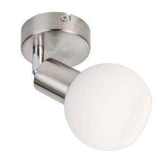 Nino Leuchten LOXY Deckenleuchte LED Nickel-Matt, 1-flammig