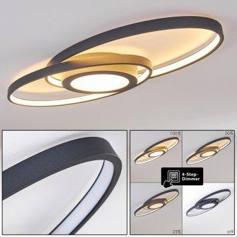 Chunky Deckenleuchte LED Grau, 1-flammig