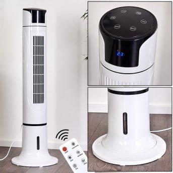 Urbino Tower Standventilator Schwarz, Weiß, Fernbedienung
