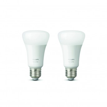 Philips Hue LED 2er Set White E27 9,5 Watt 2700 Kelvin 806 Lumen