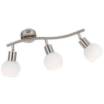 Nino Leuchten LOXY Deckenleuchte LED Nickel-Matt, 3-flammig