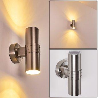 Satava Außenwandleuchte LED Chrom, 1-flammig