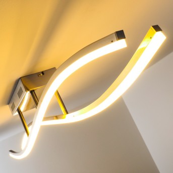 Deckenleuchte Atina LED Nickel-Matt, 1-flammig