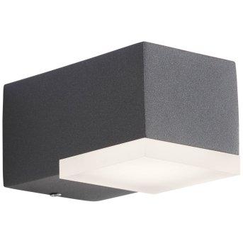 AEG Amity Außenwandleuchte LED Anthrazit, 1-flammig