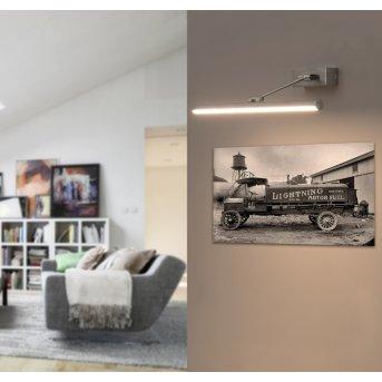 Faro Barcelona Magritte Wandleuchte LED Nickel-Matt, 1-flammig