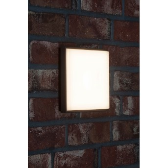 AEG Letan Square Außenwandleuchte LED Anthrazit, Weiß, 1-flammig