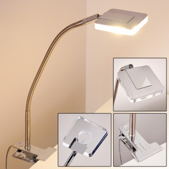 Paide Klemmleuchte LED Silber, 1-flammig