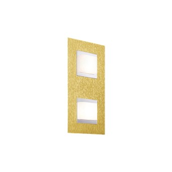 Grossmann BASIC Wandleuchte LED Messing, 2-flammig