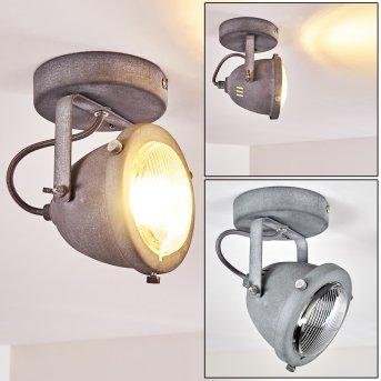 Glostrup Deckenleuchte LED Grau, 1-flammig