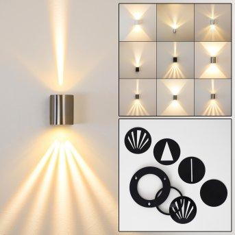 Außenwandleuchte Mora LED Edelstahl, 2-flammig