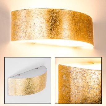 Wandleuchte Lesina L Gold, 2-flammig