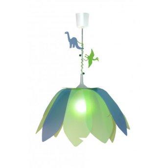 Waldi Pendelleuchte Blüte Dinosaurier Grün, 1-flammig