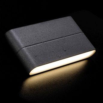 AEG Telesto Außenwandstrahler LED Anthrazit, 1-flammig
