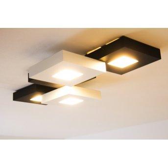 Bopp Leuchten CUBUS Deckenleuchte LED Schwarz, Weiß, 5-flammig