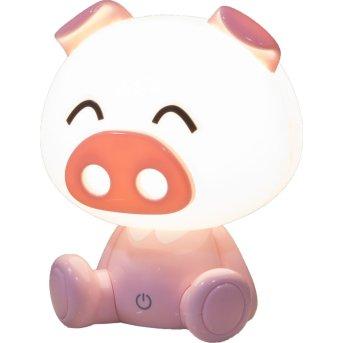 Nino Leuchten PIG Tischleuchte LED Weiß, Rosa, 1-flammig