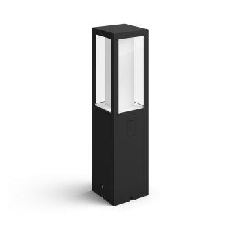 Philips Hue Ambiance White & Color Impress Sockelleuchte, Erweiterungs-Set LED Schwarz, 1-flammig, Farbwechsler
