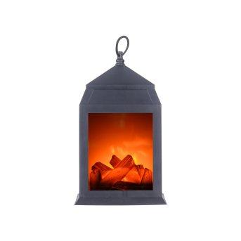 Leuchten-Direkt CHIMNEY Kamin LED Schwarz, 6-flammig