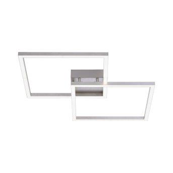 Leuchten Direkt Ls-MAXI Deckenleuchte LED Edelstahl, 2-flammig, Fernbedienung, Farbwechsler