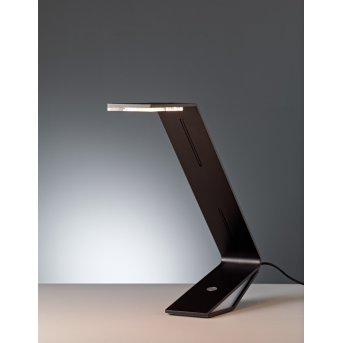 Tecnolumen Flad Tischleuchte LED Schwarz, 1-flammig