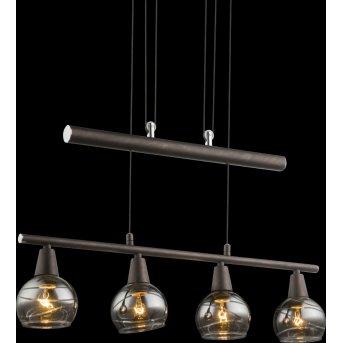Globo Isla Hängeleuchte LED Bronze, 4-flammig