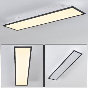 Salmi Deckenpanel LED Schwarz, Weiß, 1-flammig