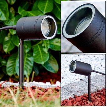 Froslev Gartenspieß LED Schwarz, 1-flammig
