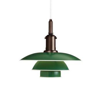 Louis Poulsen PH 3½-3 Pendelleuchte Grün, 1-flammig