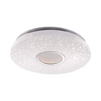 Leuchten Direkt JONAS Deckenleuchte LED Weiß, Stahl gebürstet, 1-flammig, Fernbedienung