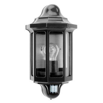 KS Verlichting Loreo Außenwandleuchte Schwarz, 1-flammig, Bewegungsmelder