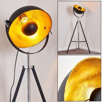 Jupiter Stehlampe Schwarz-Gold, 1-flammig