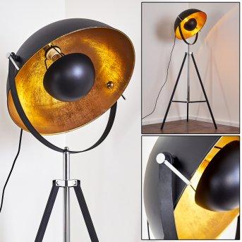 Jupiter Stehleuchte Schwarz-Gold, 1-flammig