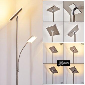 Veteli Deckenfluter LED Edelstahl, 2-flammig