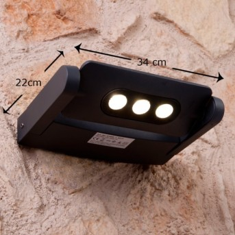 Lutec LEADSPOT Außenwandleuchte LED Anthrazit, 3-flammig