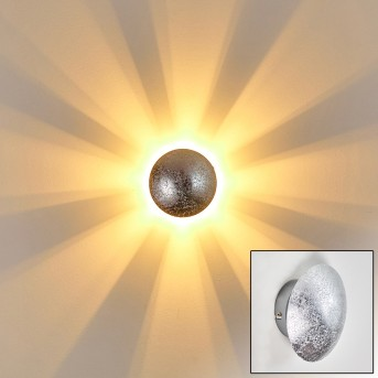 Mezia Wandleuchte Silber, 1-flammig