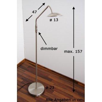 Wofi TWIN Standleuchte LED Nickel-Matt, Edelstahl, 1-flammig