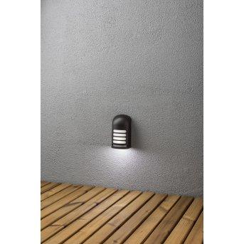 Konstsmide Prato Batterie Wandleuchte LED Schwarz, 1-flammig, Bewegungsmelder