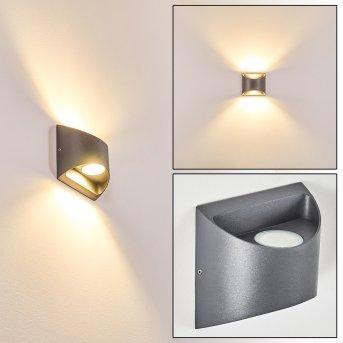 Vikom Aussenwandleuchte LED Anthrazit, 2-flammig