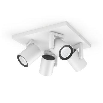 Philips Hue Ambiance White & Color Argenta Wand-/Deckenspot Erweiterung Weiß, 4-flammig, Farbwechsler