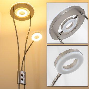 Watino Deckenfluter LED Nickel-Matt, 3-flammig