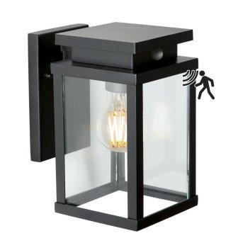 KS Verlichting Jersey Außenwandleuchte Schwarz, 1-flammig, Bewegungsmelder