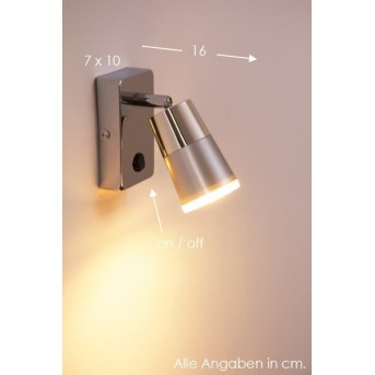 Leuchten Direkt DALLI Wandleuchte LED Chrom, 1-flammig