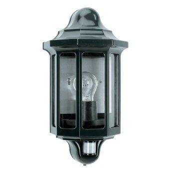 KS Verlichting Loreo Außenwandleuchte Grün, 1-flammig, Bewegungsmelder