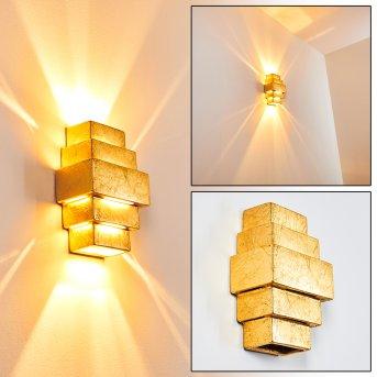 Tokia Wandleuchte Gold, 2-flammig