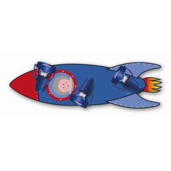 Waldi Deckenleuchte Rakete Blau, 3-flammig