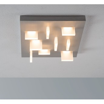 Escale Sharp Deckenleuchte LED Nickel-Matt, 9-flammig