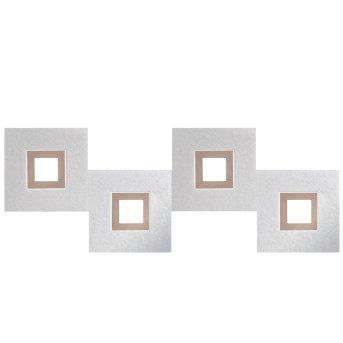 Grossmann KARREE Deckenleuchte LED Aluminium, Kupferfarben, 4-flammig