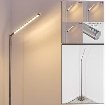 Deje Stehleuchte LED Nickel-Matt, 1-flammig