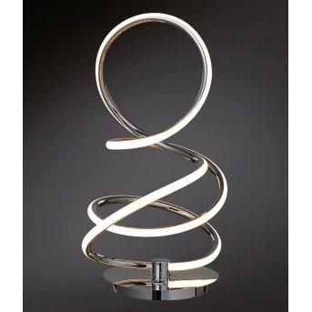 Wofi SOLLER Tischleuchte LED Chrom, 1-flammig