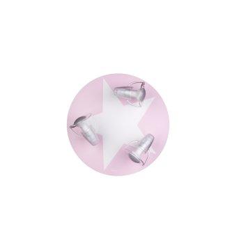 Waldi Wimbel Deckenleuchte Weiß, Rosa, 3-flammig