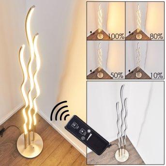 Mapleton Stehleuchte LED Nickel-Matt, 3-flammig, Fernbedienung